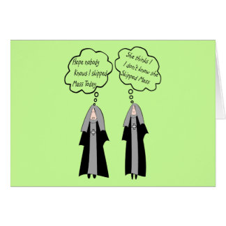 """Nun Cards """"Things Nuns Think About"""" Funny"""