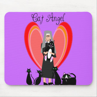 Nun Cat Angel Art Gifts Mouse Pad
