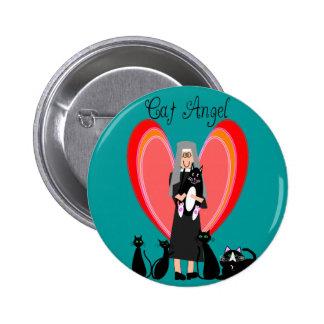 Nun Cat Angel Art Gifts Pinback Button