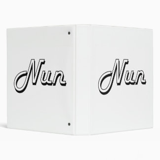 Nun Classic Job Design 3 Ring Binder