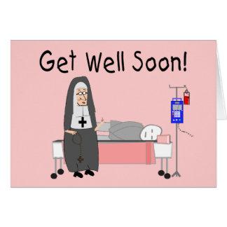 """Nun """"Get Well Soon""""  Card"""