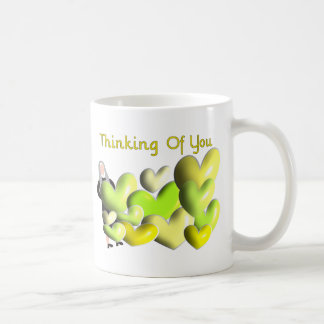 "Nun Greeting Cards ""Thinking of You"" Artsy Hearts Coffee Mug"