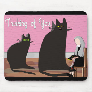 "Nun Greeting Cards & Totes ""Thinking of You"" Mouse Pad"
