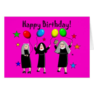 Nun Happy Birthday Cards & Gifts