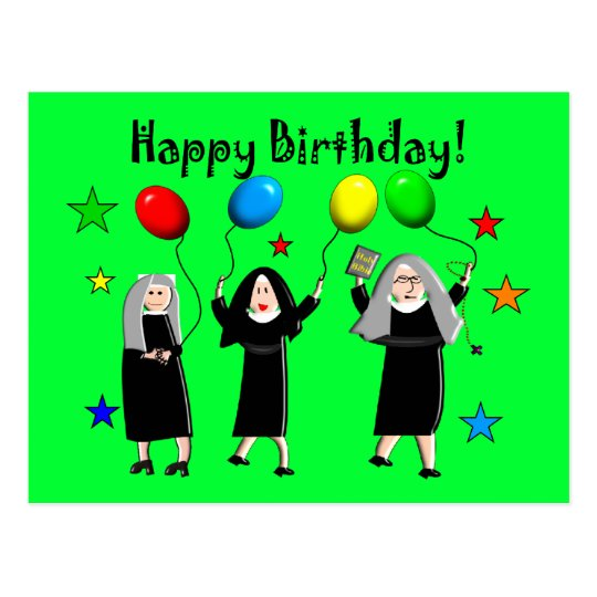 Nun Happy Birthday Cards Gifts