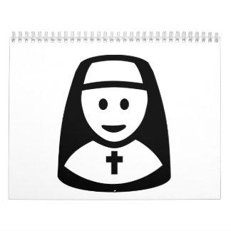 Nun head calendar