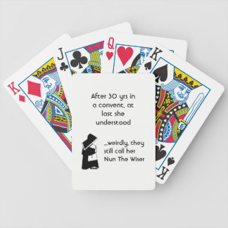 Nun joke - clean humor, Catholic Fun Bicycle Playing Cards