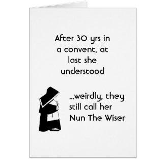 Nun joke - clean humor, Catholic Fun Card