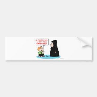 nun nunchucks bumper sticker
