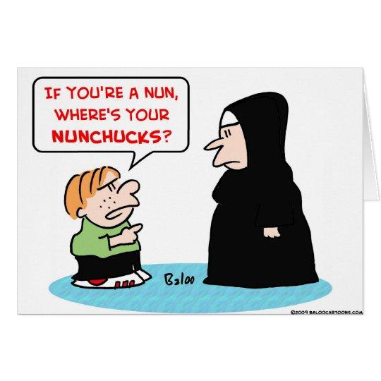 nun nunchucks card