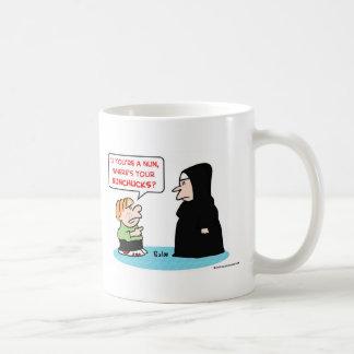 nun nunchucks coffee mug