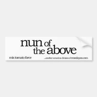 nun of the above bumper sticker