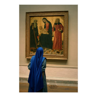 Nun, Painting, National Gallery of Art Poster