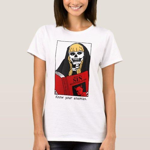 Nun  The Book of Sin T_Shirt