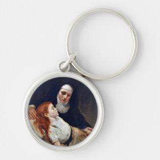 Nun with a sick girl keychain