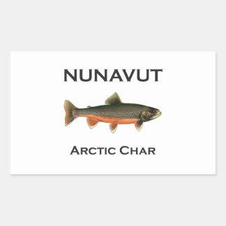 Nunavut Fishing Arctic Char Logo Rectangular Sticker
