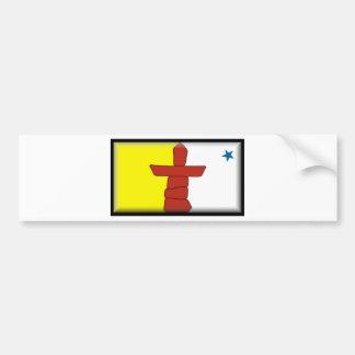 Nunavut Flag Car Bumper Sticker