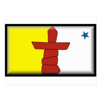 Nunavut Flag Postcard