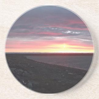 Nunavut Sunset Coaster by Norma Budden