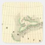 Nunavut, territorios del noroeste pegatina cuadrada