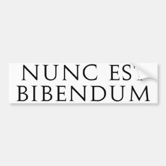 Nunc Est Bibendum Bumper Sticker