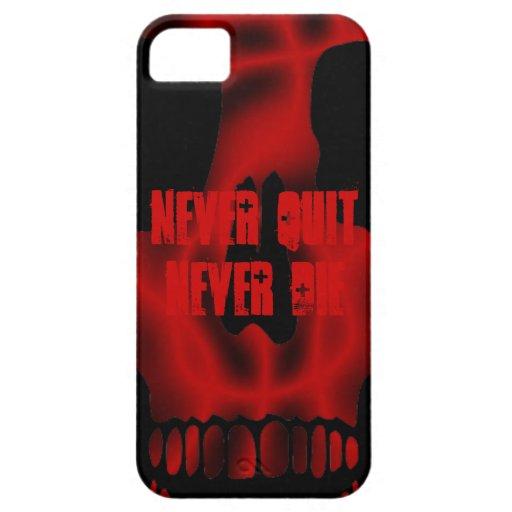 Nunca abandonado nunca muera iPhone 5 protector