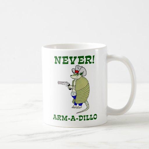 Nunca armadillo taza de café