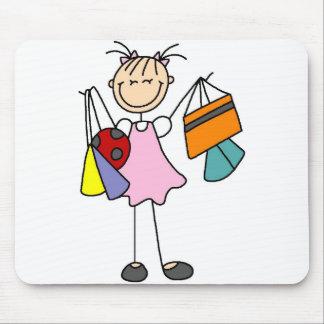 Nunca bastantes bolsos Mousepad que hace compras Tapete De Ratón