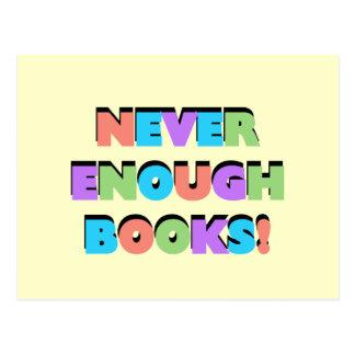 Nunca bastantes camisetas y regalos de los libros postales