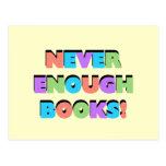 Nunca bastantes camisetas y regalos de los libros postal