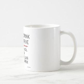 Nunca beba y derive taza de café