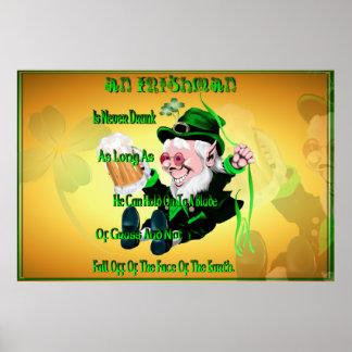 ¡Nunca beben a un irlandés! Impresión Póster