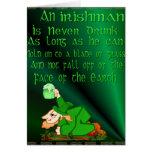Nunca beben a un irlandés…. Tarjeta