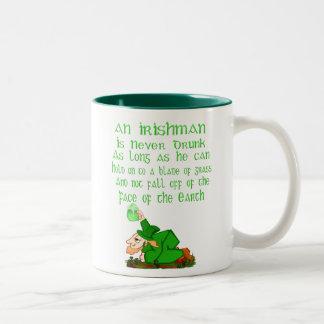 Nunca beben a un irlandés…. Taza