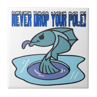 Nunca caiga a su poste azulejo cerámica