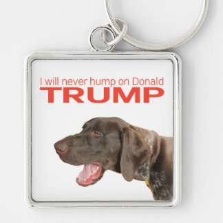 ¡Nunca chepa en Donald Trump! Llavero Cuadrado Plateado