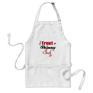 Nunca confíe en a un cocinero flaco delantal