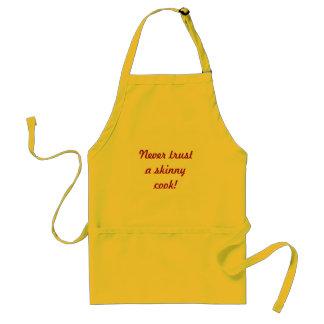 ¡Nunca confíe en a un cocinero flaco! Delantales