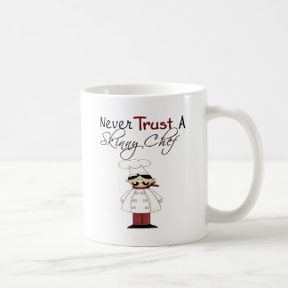 Nunca confíe en a un cocinero flaco tazas de café