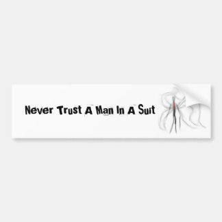 Nunca confíe en a un hombre en una pegatina para e pegatina para auto