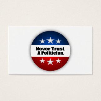 Nunca confíe en a un político tarjetas de visita