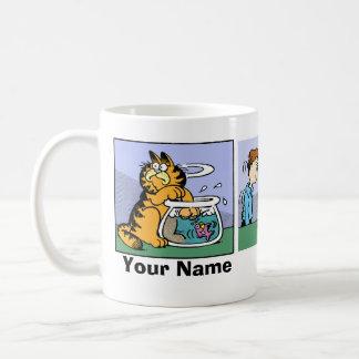 """""""Nunca confíe en historieta de Garfield de un gato Tazas"""