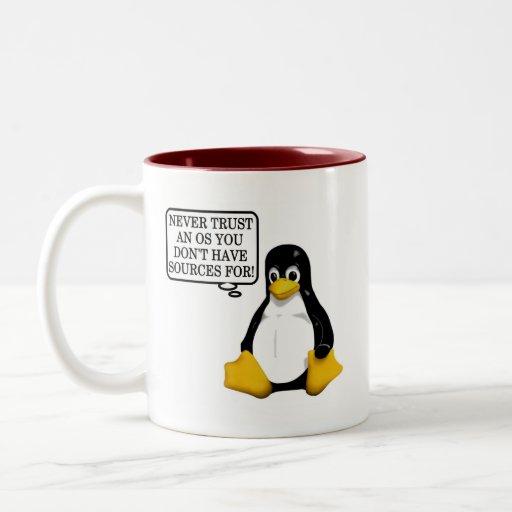 ¡Nunca confíe en que un OS usted no tiene fuentes  Taza De Café