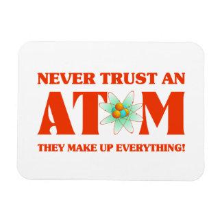 Nunca confíe en un átomo en naranja atómico iman rectangular