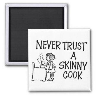 Nunca confíe en un imán flaco del cocinero