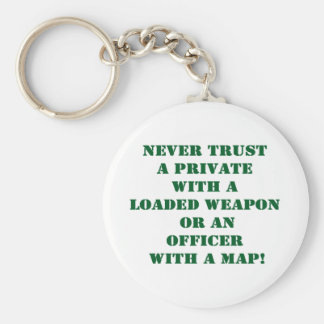 Nunca confíe en un Pvt con un mapa Llavero Redondo Tipo Pin