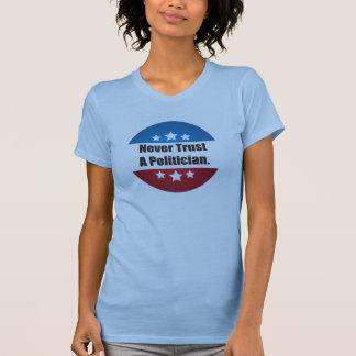 Nunca confíe en una camiseta del político