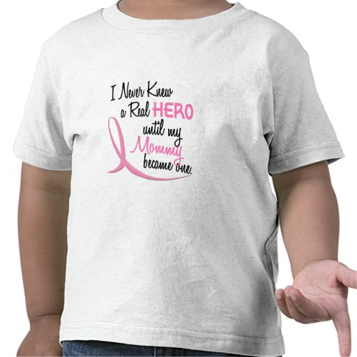 Nunca conocía a un CÁNCER de PECHO real de la mamá Camisetas