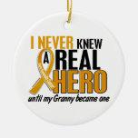 Nunca conocía a un cáncer del apéndice de la abuel ornaments para arbol de navidad