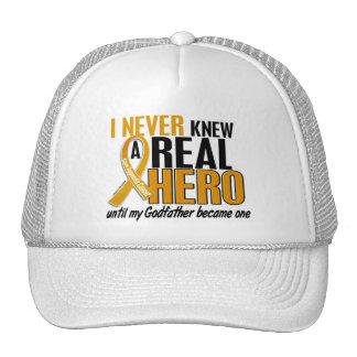 Nunca conocía a un cáncer del apéndice del padrino gorros bordados